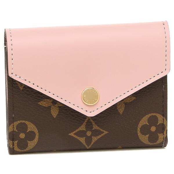 【4時間限定ポイント5倍】ルイヴィトン 折財布 レディース LOUIS VUITTON M62933 ブラウン ピンク