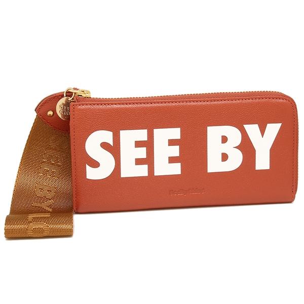 【24時間限定ポイント5倍】シーバイクロエ 長財布 レディース SEE BY CHLOE CHS18AP821 443 651 レッド