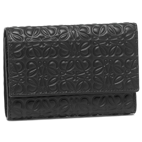 【4時間限定ポイント5倍】ロエベ 折財布 レディース LOEWE 107 55 S97 1100 ブラック