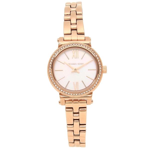 【4時間限定ポイント5倍】マイケルコース 腕時計 レディース MICHAEL KORS MK3834 ローズゴールド ホワイト
