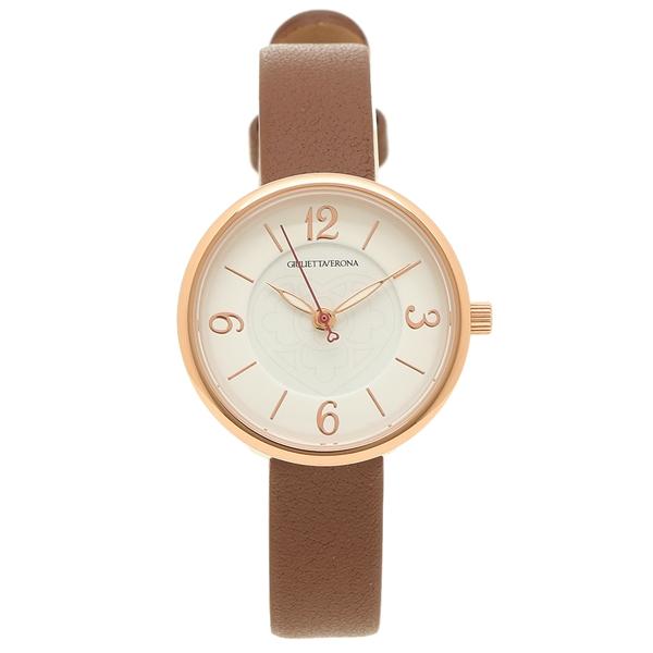 【4時間限定ポイント5倍】ジュリエッタヴェローナ 腕時計 レディース GIULIETTAVERONA GV008PWHBR ピンクゴールド ホワイト ブラウン