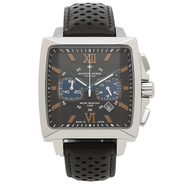 【4時間限定ポイント5倍】ハンティングワールド 腕時計 メンズ HUNTING WORLD HW701SBK ブラック シルバー