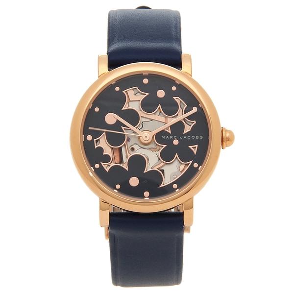 マークジェイコブス 腕時計 レディース MARC JACOBS MJ1628 ネイビーブルー ローズゴールド