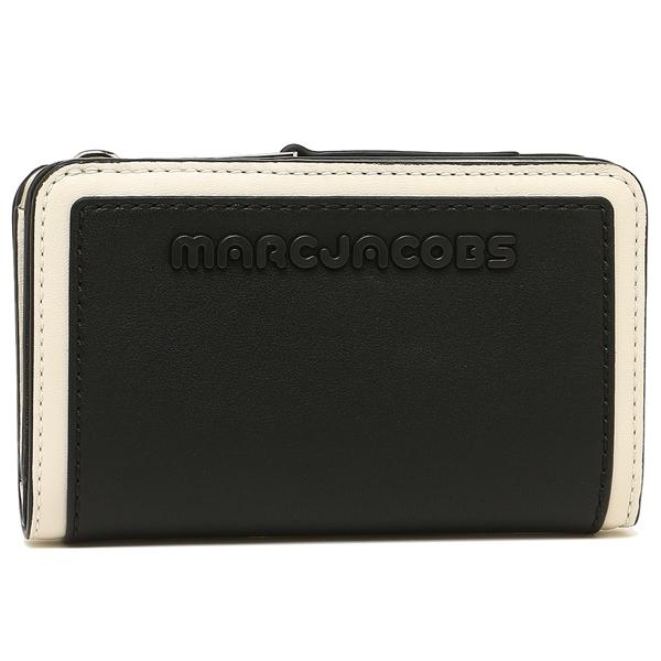 【4時間限定ポイント10倍】マークジェイコブス 折財布 レディース MARC JACOBS M0014295 005 ブラック ホワイト