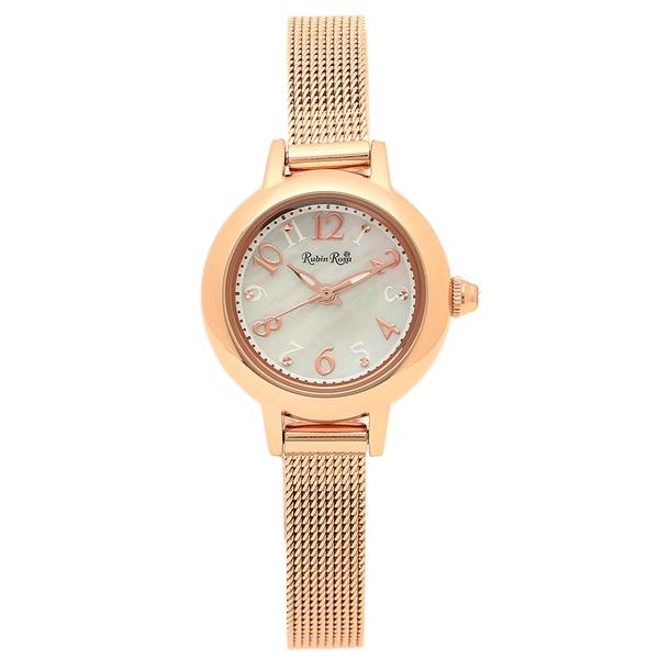 Rosa ホワイト 【4時間限定ポイント5倍】ルビンローザ 腕時計 レディース ピンクゴールド R202PWH Rubin