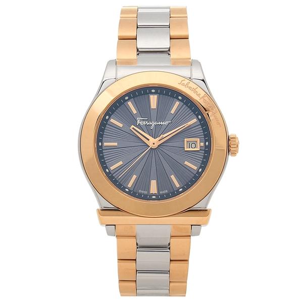 【28時間限定ポイント5倍】フェラガモ 腕時計 メンズ Salvatore Ferragamo FF3240015 ブルー シルバー ピンクゴールド