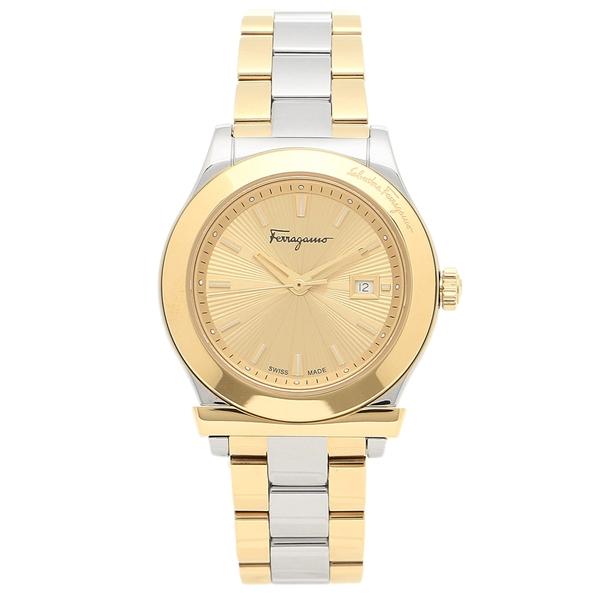 【返品OK】フェラガモ 腕時計 レディース Salvatore Ferragamo FFL010017 シルバー イエローゴールド