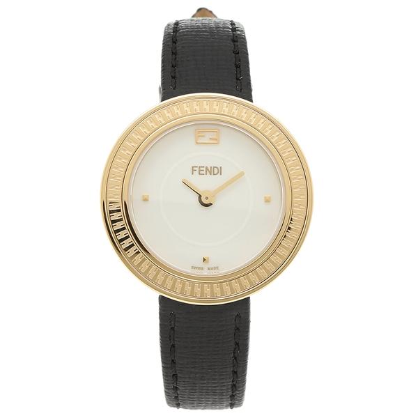 【4時間限定ポイント10倍】フェンディ 腕時計 レディース FENDI F354424011 イエローゴールド ホワイト ブラック