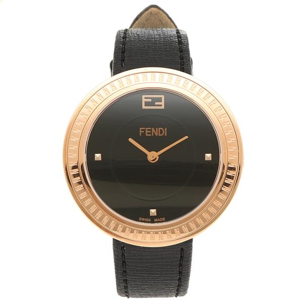 フェンディ 腕時計 レディース FENDI F354531011 ローズゴールド ブラック