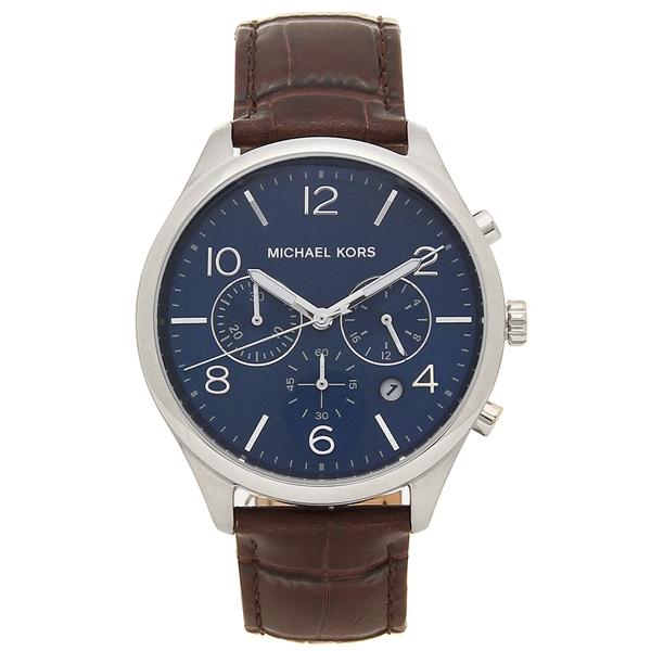 【4時間限定ポイント10倍】マイケルコース 腕時計 メンズ MICHAEL KORS MK8636 ブラウン シルバー ブルー