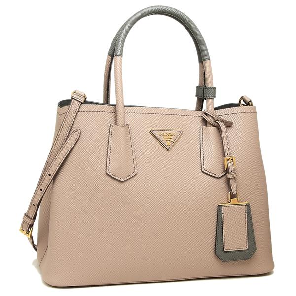 10a3b1861b97 Prada tote bag shoulder bag Lady s PRADA 1BG887 2A4A F0WF6 beige gray