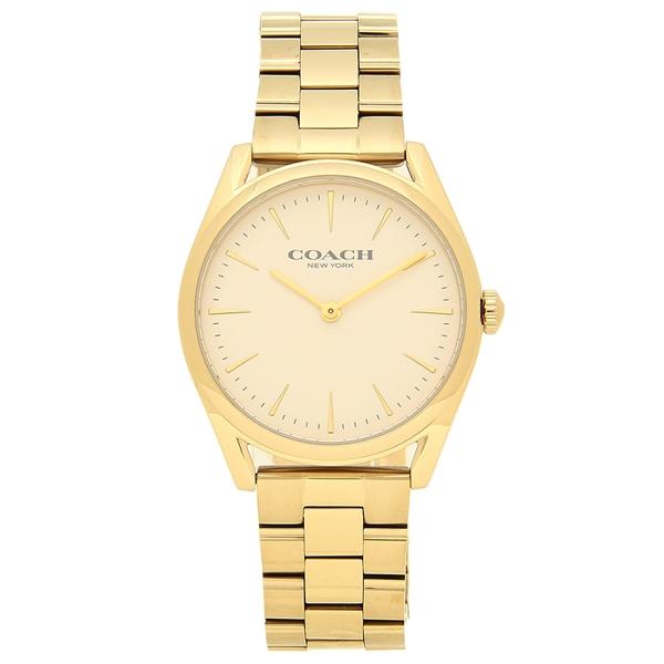 【4時間限定ポイント10倍】コーチ 腕時計 レディース COACH 14503109 イエローゴールド ホワイト