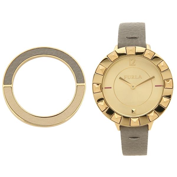 【返品OK】フルラ 腕時計 レディース 替えベゼル付き FURLA 899440 W489 WU0 00Z M6F カーキ