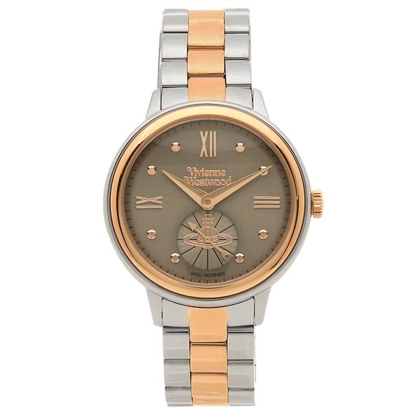 【6時間限定ポイント10倍】【返品OK】ヴィヴィアンウエストウッド 腕時計 レディース VIVIENNE WESTWOOD VV158GYTT シルバー ローズゴールド グレー