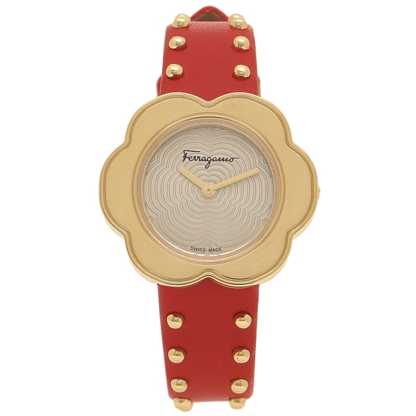 【4時間限定ポイント10倍】フェラガモ 腕時計 レディース Salvatore Ferragamo SFCR00518 レッド イエローゴールド