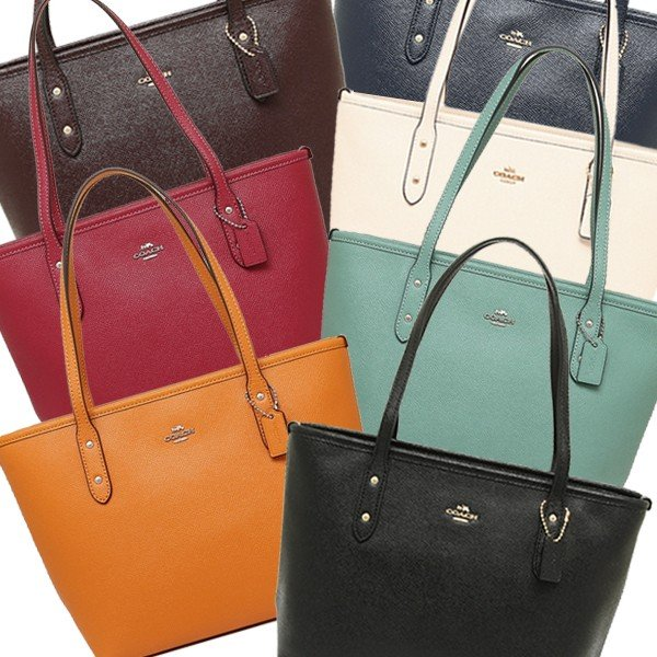 267afe28d5c86 Coach bag outlet COACH F22967 mini-city zip Thoth lady s tote bag plain  fabric