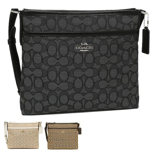 a9fe59fce Coach bag outlet COACH F29960 signature jacquard file crossbody Lady's  shoulder bag ...