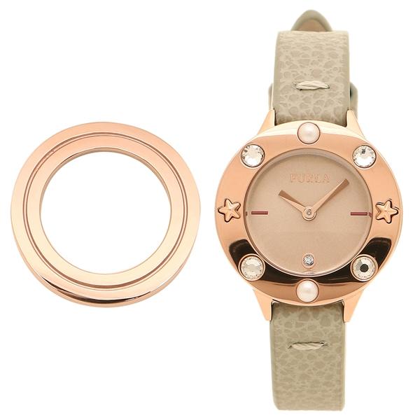 【4時間限定ポイント10倍】フルラ 腕時計 レディース 替えベゼル付き FURLA 996329 R4251109530 W513 I43 V89 ベージュ