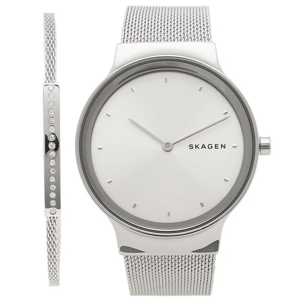【4時間限定ポイント10倍】スカーゲン 腕時計 レディース ブレスレット付き SKAGEN SKW1105 シルバー