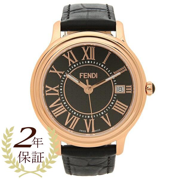 【4時間限定ポイント10倍】フェンディ 腕時計 メンズ FENDI F256511011 ブラック ピンクゴールド