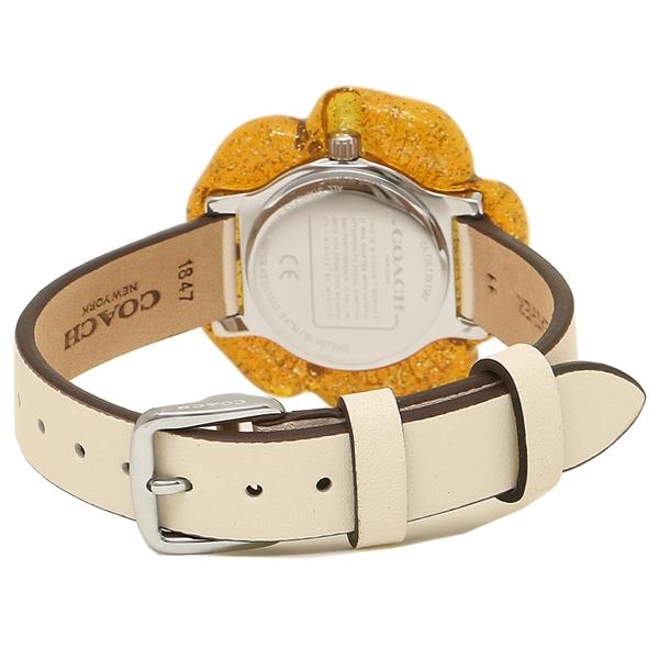 268f2b61c816 【4時間限定ポイント10倍】コーチ腕時計レディースCOACH14503050ホワイトオレンジ