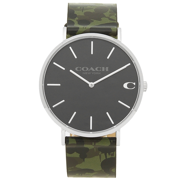【返品OK】コーチ 腕時計 メンズ COACH 14602154 カモフラージュグリーンカーキー グレー