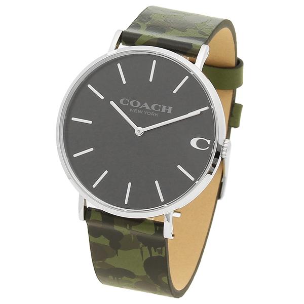 50747ae1734 Brand Shop AXES  Coach watch men COACH 14602154 camouflage green car ...
