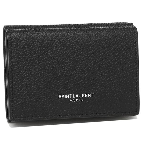 【4時間限定ポイント10倍】サンローラン 折財布 レディース SAINT LAURENT PARIS 459784 B680N 1000 ブラック