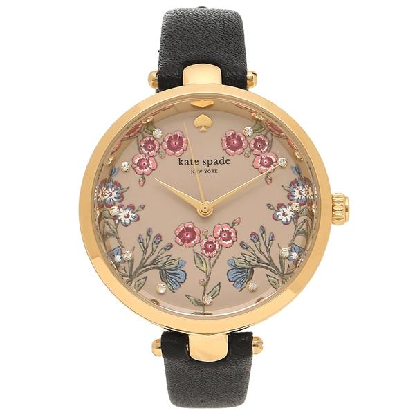ケイトスペード 腕時計 レディース KATE SPADE KSW1462 ブラック イエローゴールド