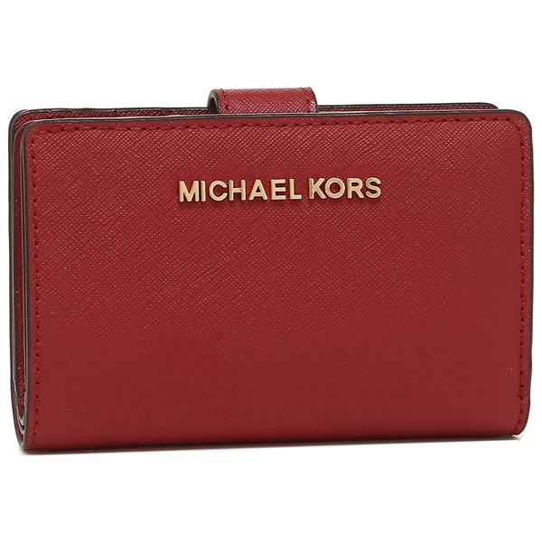 【4時間限定ポイント10倍】マイケルコース 折財布 アウトレット レディース MICHAEL KORS 35F7GTVF2L SCARLET レッド