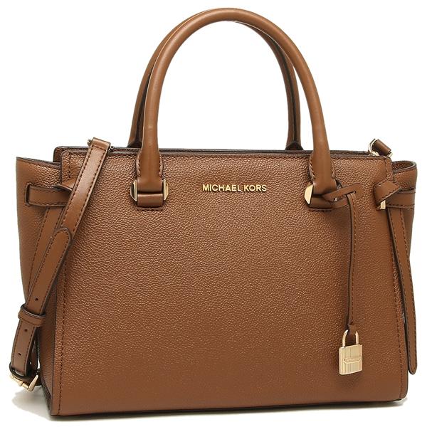 6f602313227e Michael Kors tote bag shoulder bag outlet Lady's MICHAEL KORS 35H8ST6S2L  LUGGAGE brown ...