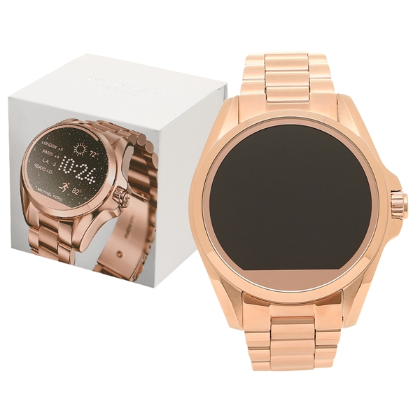 d75086e96acf Michael Kors watch lady s smart watch outlet MICHAEL KORS MKT5004 Rose gold  black