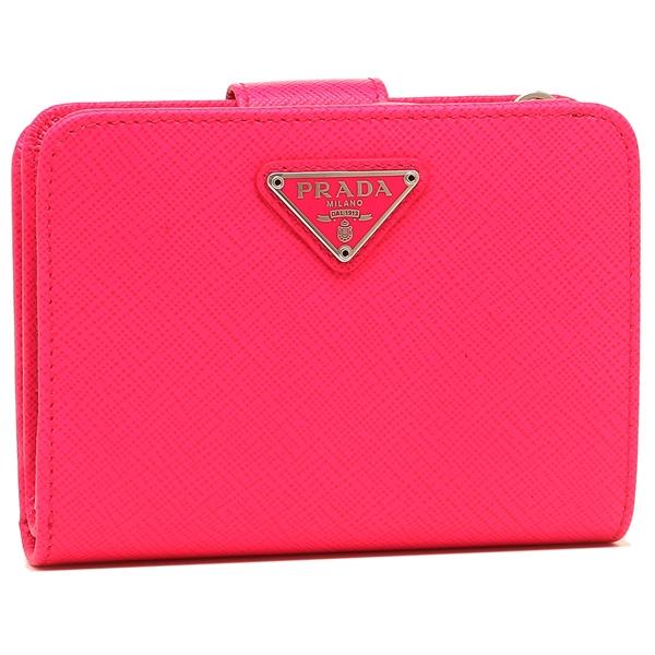 【4時間限定ポイント10倍】プラダ 折財布 レディース PRADA 1ML018 QHH F0F90 ピンク