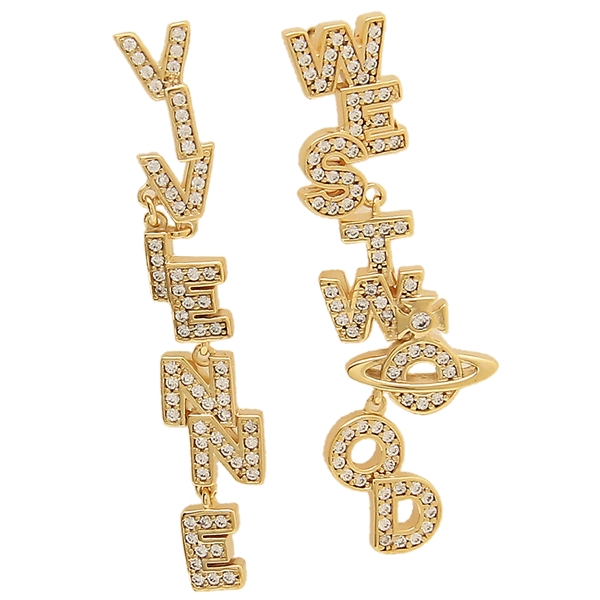 ヴィヴィアンウエストウッド ピアス アクセサリー レディース VIVIENNE WESTWOOD BE623797/2 ゴールド クリア