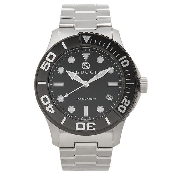 【返品OK】グッチ 腕時計 メンズ GUCCI YA126279 シルバー ブラック