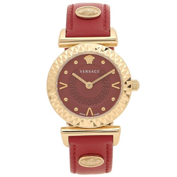 ヴェルサーチ 腕時計 レディース VERSACE VEAA00318 レッド ローズゴールド