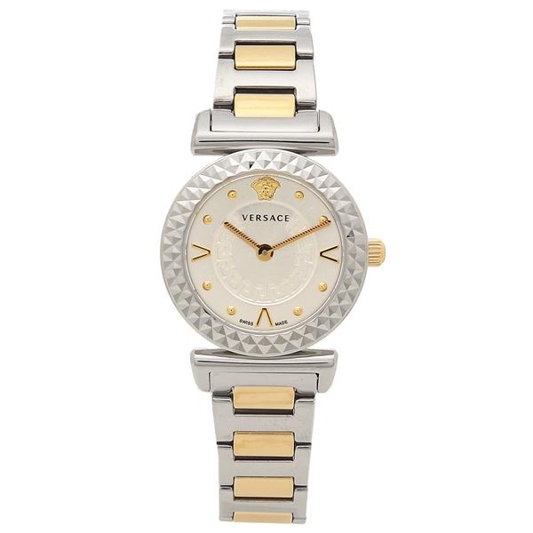 【返品OK】ヴェルサーチ 腕時計 レディース VERSACE VEAA00418 シルバー ローズゴールド