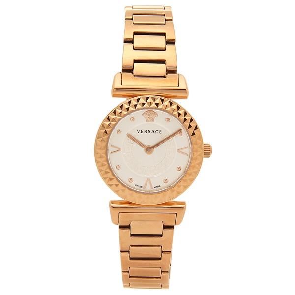 【6時間限定ポイント10倍】【返品OK】ヴェルサーチ 腕時計 レディース VERSACE VEAA00618 シルバー ローズゴールド