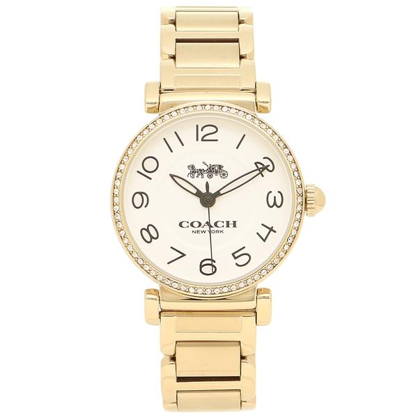 コーチ 腕時計 レディース COACH 14502855 イエローゴールド ホワイト