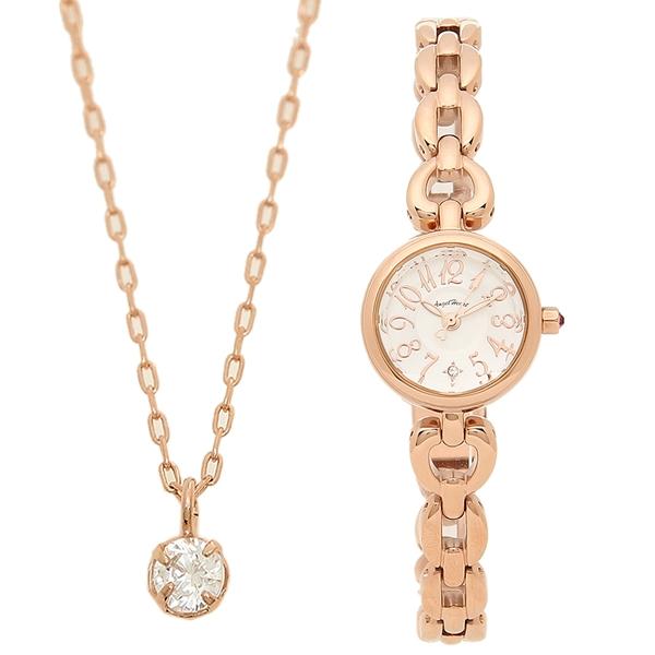 【返品OK】エンジェルハート 腕時計 レディース ネックレス付き ANGEL HEART BH21PSV シルバー ピンクゴールド