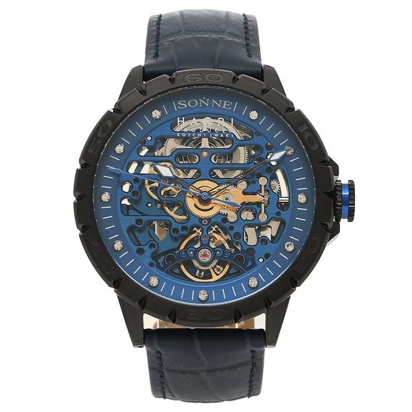 【返品OK】ゾンネ 腕時計 メンズ SONNE H023BK-NV ブラック ネイビーブルー
