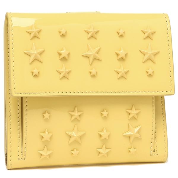 【4時間限定ポイント10倍】ジミーチュウ 折財布 レディース JIMMY CHOO FRIDA AXS イエロー