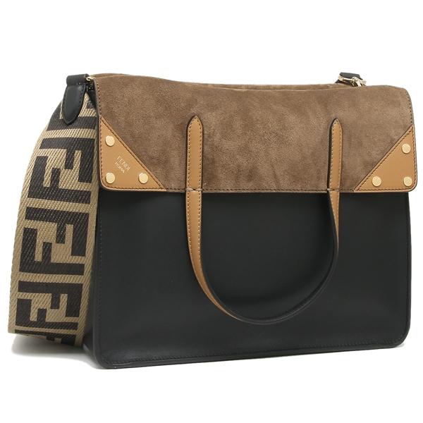15b743be934d Fendi shoulder bag tote bag Lady s FENDI 8BT303 A6CG F15WC black brown