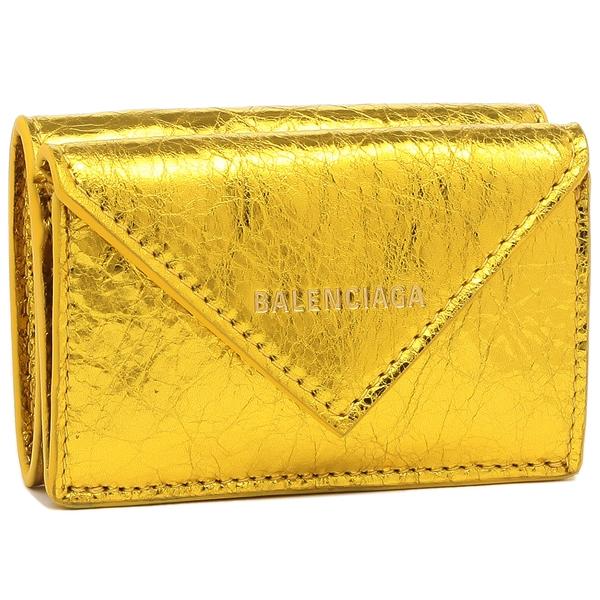 【4時間限定ポイント10倍】バレンシアガ 折財布 レディース BALENCIAGA 391446 0GT4N 8000 ゴールド