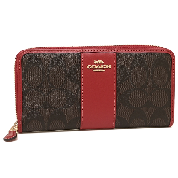 hot sale online 1b4f5 733c4 Coach long wallet outlet Lady's COACH F54630 IMOG7 brown red