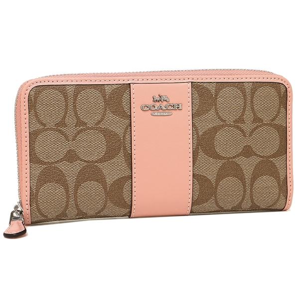 cheap for discount ac6c0 90a1b Coach long wallet outlet Lady's COACH F54630 SVAVK khaki light pink