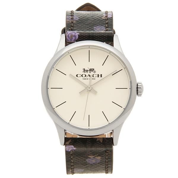 【返品OK】コーチ 腕時計 レディース アウトレット COACH W1546 SVOKK カーキ シルバー