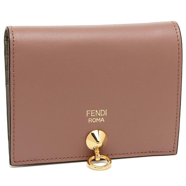 【4時間限定ポイント10倍】フェンディ 折財布 レディース FENDI 8M0387 6GM F13JI ピンク ベージュ