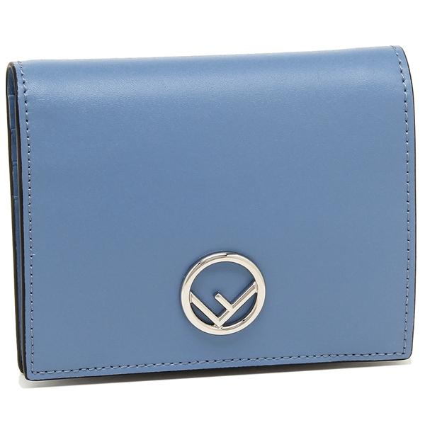 【4時間限定ポイント10倍】フェンディ 折財布 レディース FENDI 8M0387 A0KK F0V1A ブルー