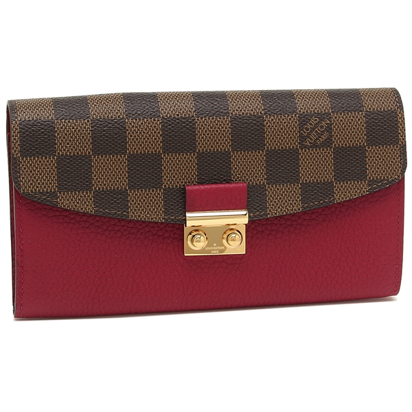 ルイヴィトン 長財布 レディース LOUIS VUITTON N60207 ブラウン ピンク
